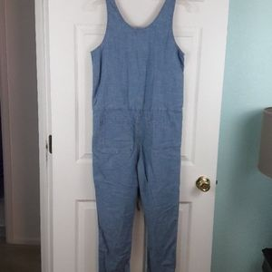 Lucky Brand Dresses - Lucky Brand Moreno Valley Chambray Jumpsuit Size S